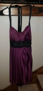 Maroon and Black Party Dress - NWOT
